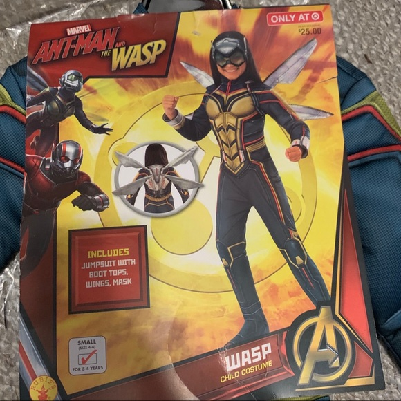 Antman and the Wasp Marvel WASP Costume  Small 3-4